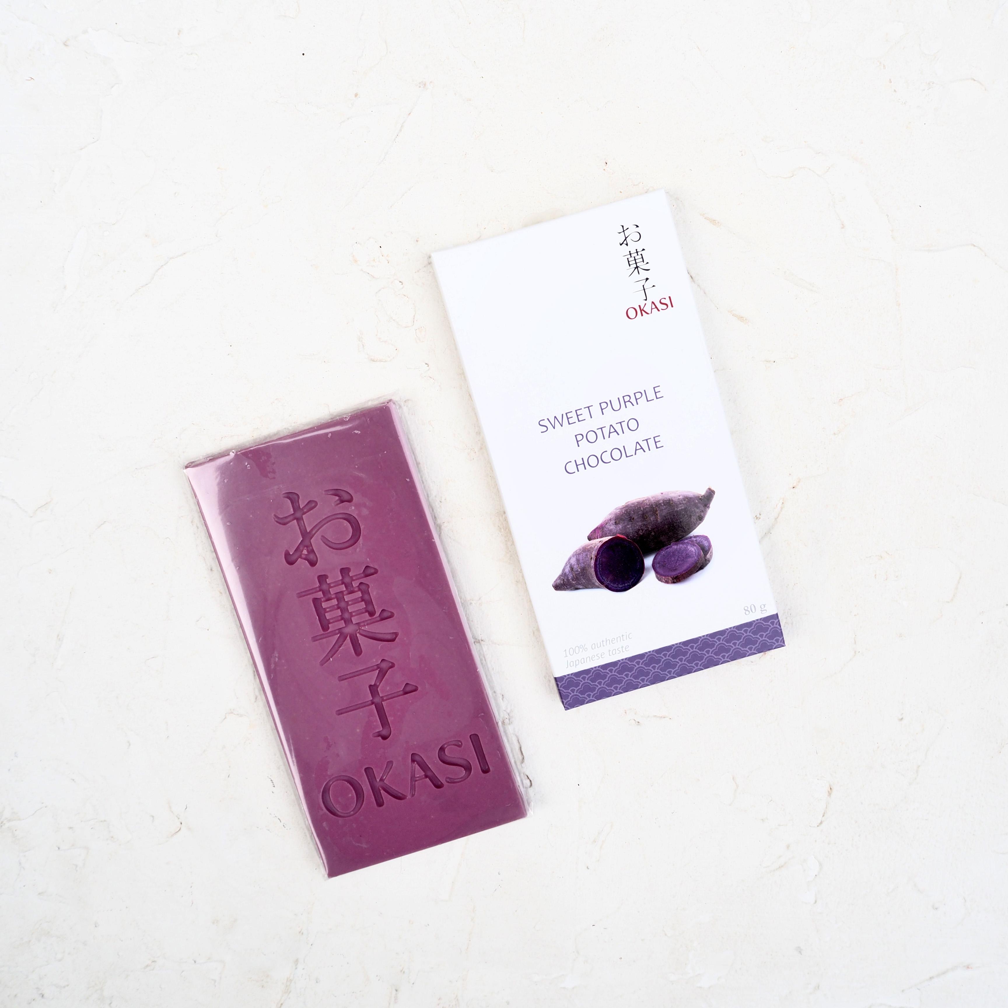 Японский шоколад с фиолетовым бататом (1 шт., 80 г)
