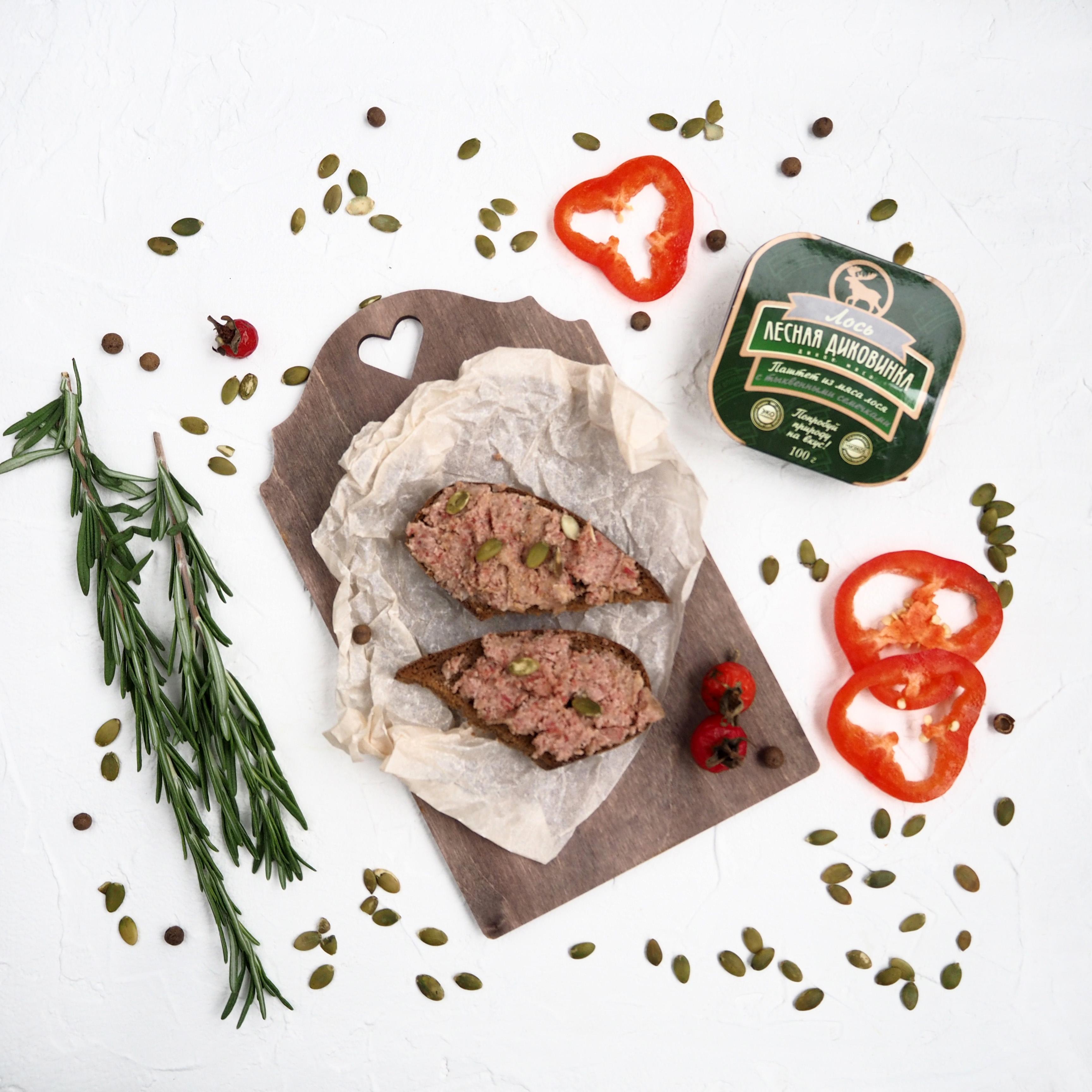 Паштет из мяса лося с тыквенными семечками (1 шт., 200 г)