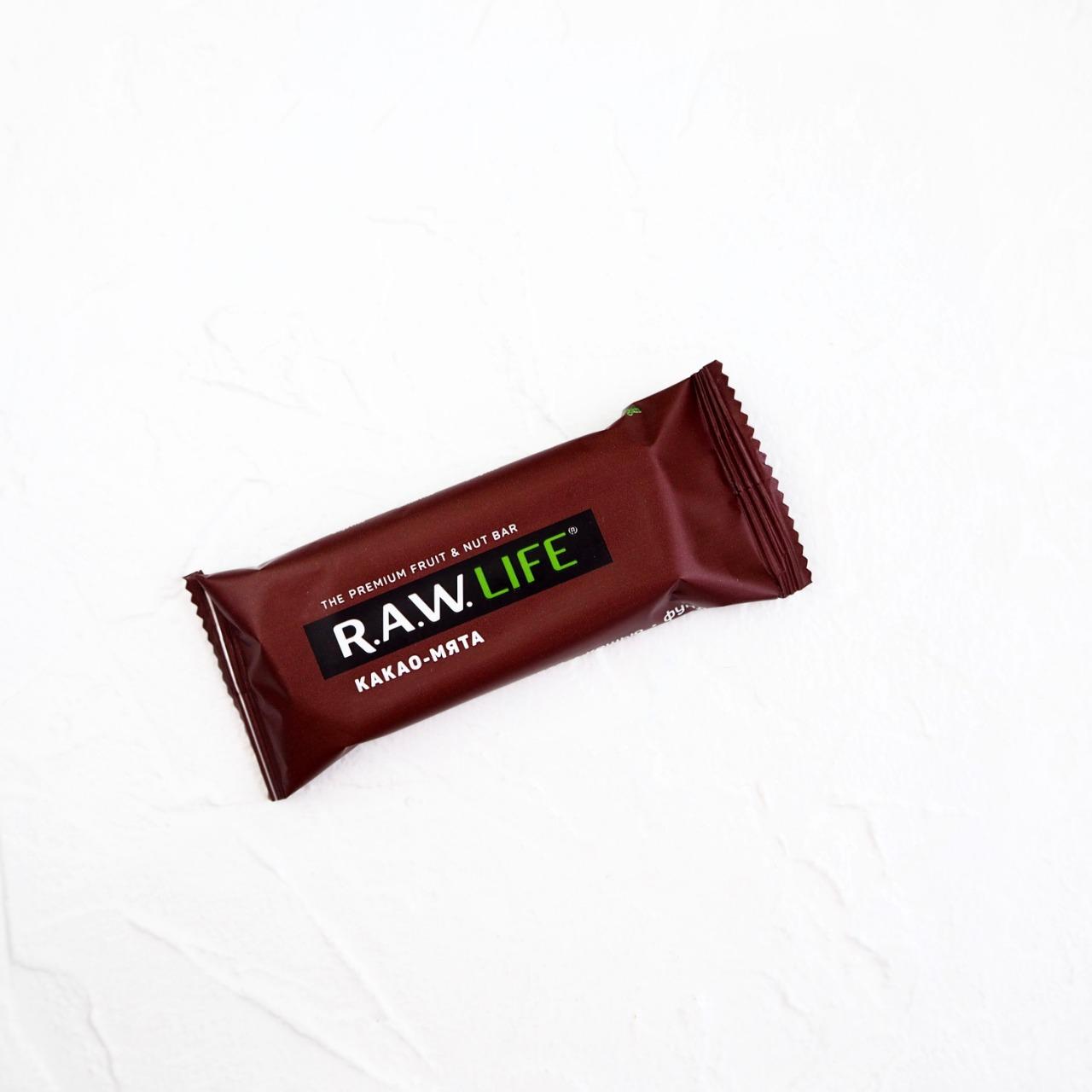 Орехово-фруктовый батончик Какао-Мята (1 шт., 47 г)