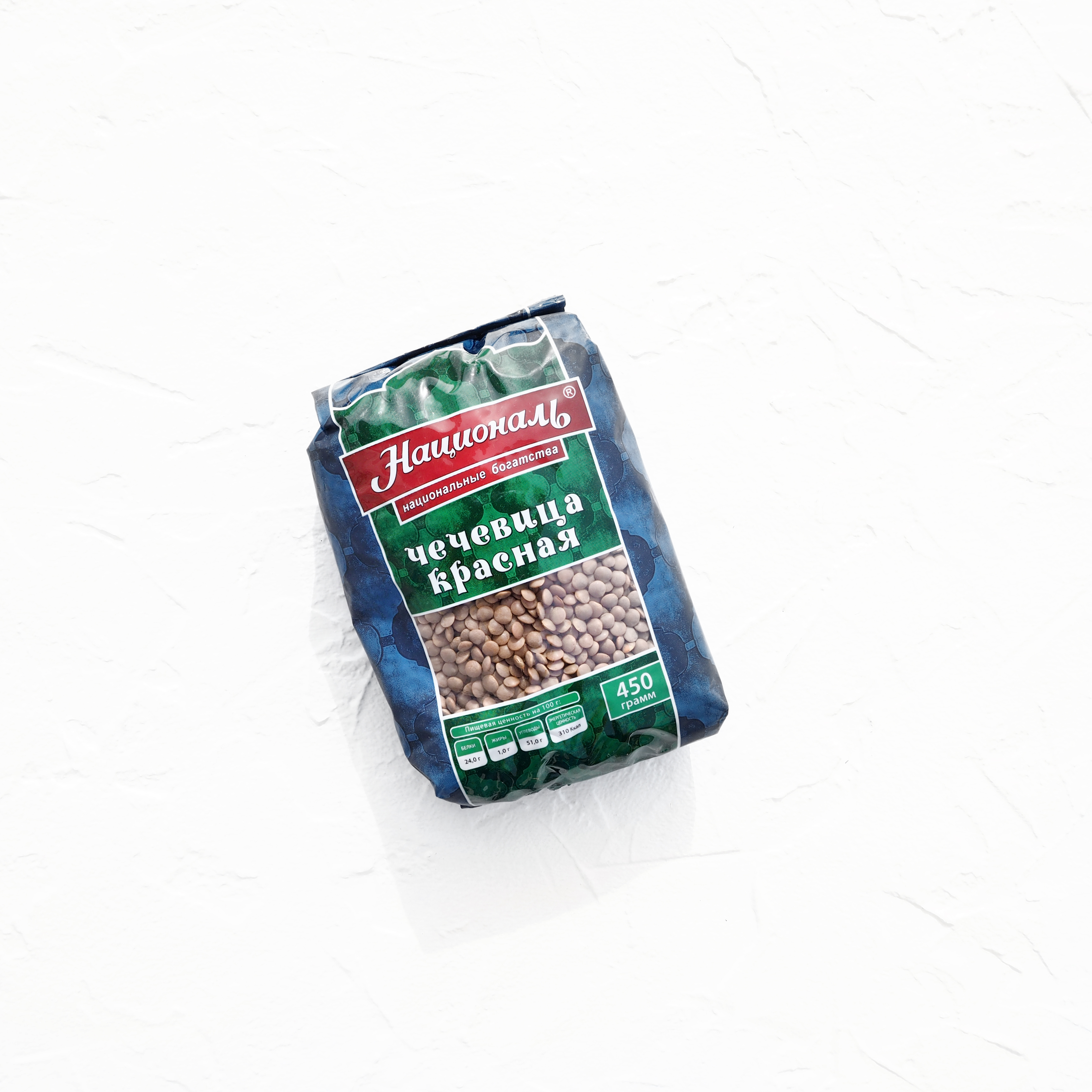 Красная  чечевица (450 г)