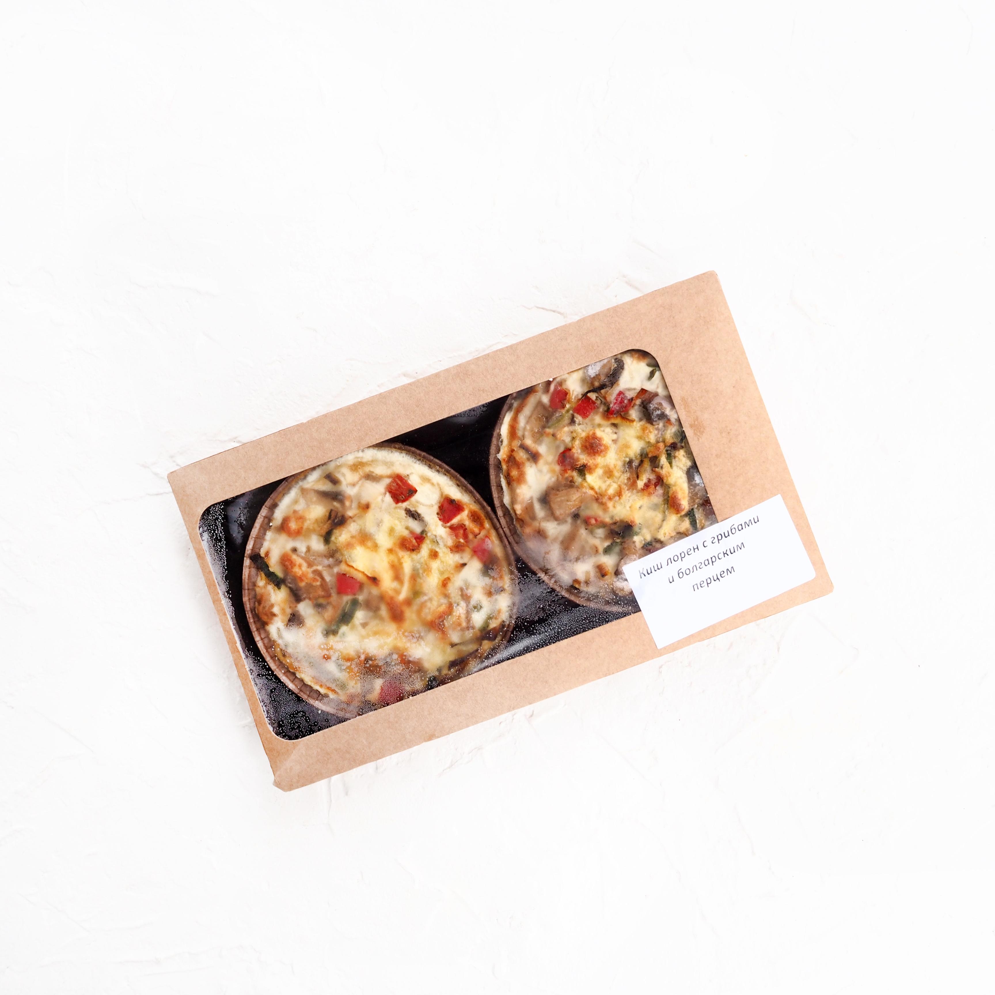 Киш лорен с грибами и болгарским перцем (2 шт., 350 г)