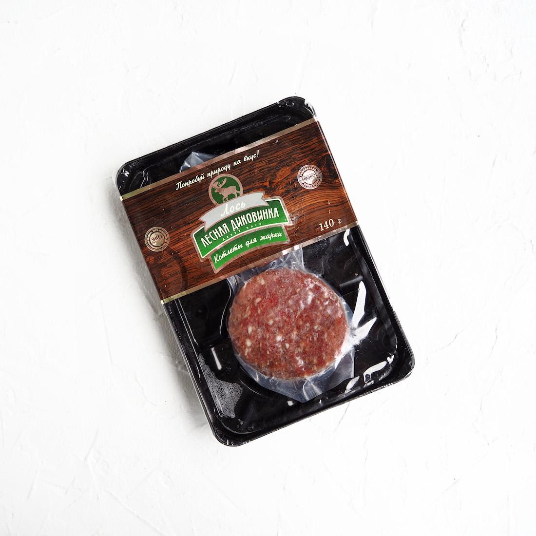 Замороженные котлеты из мяса лося (2 шт., 140 г)