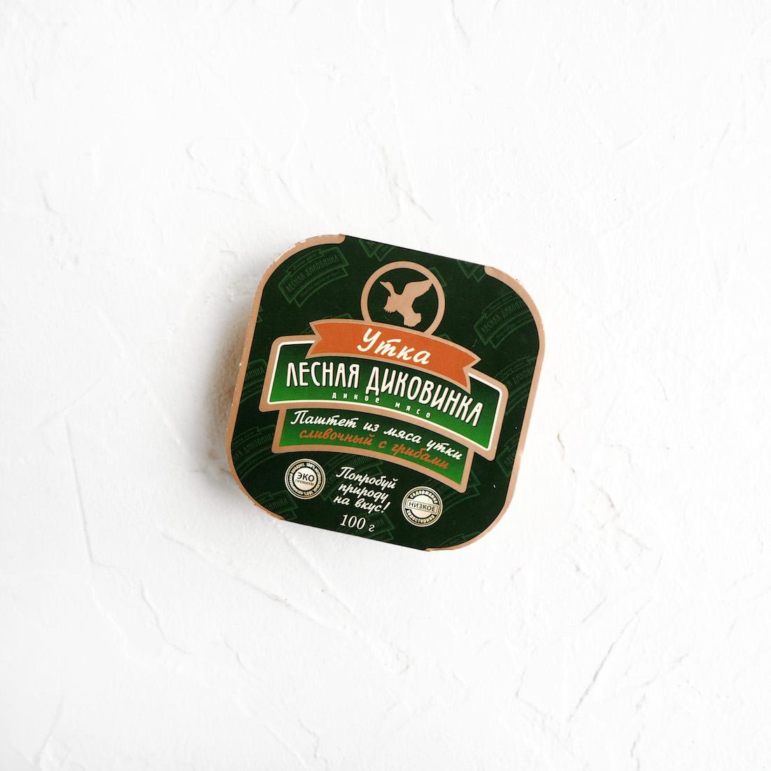 Сливочный паштет из мяса утки с грибами ( 1 шт., 100 г)