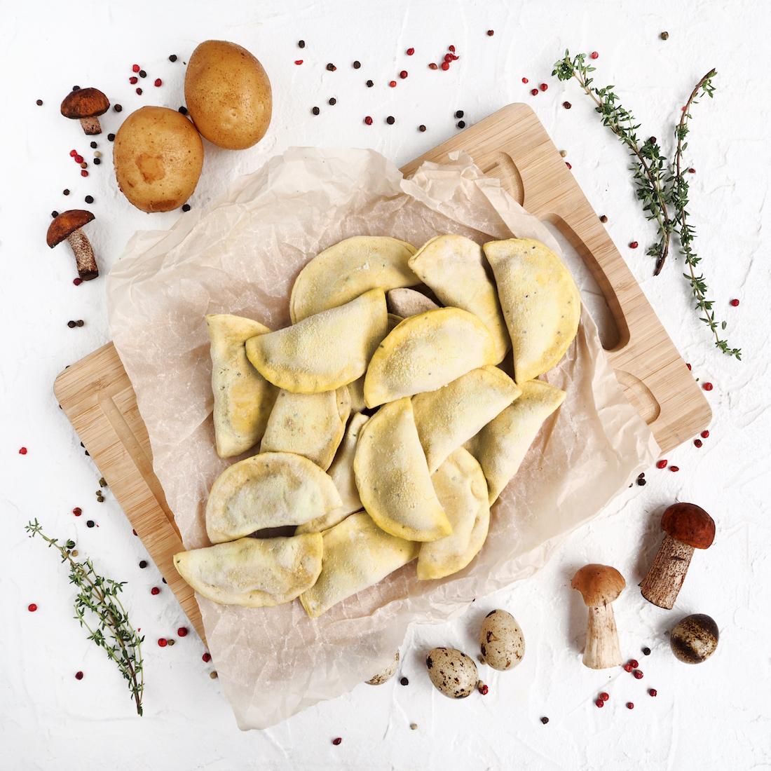 Вареники с картофелем и грибами (450 г)