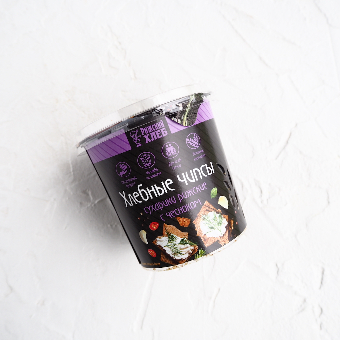 Хлебные чипсы с чесноком (50 г)