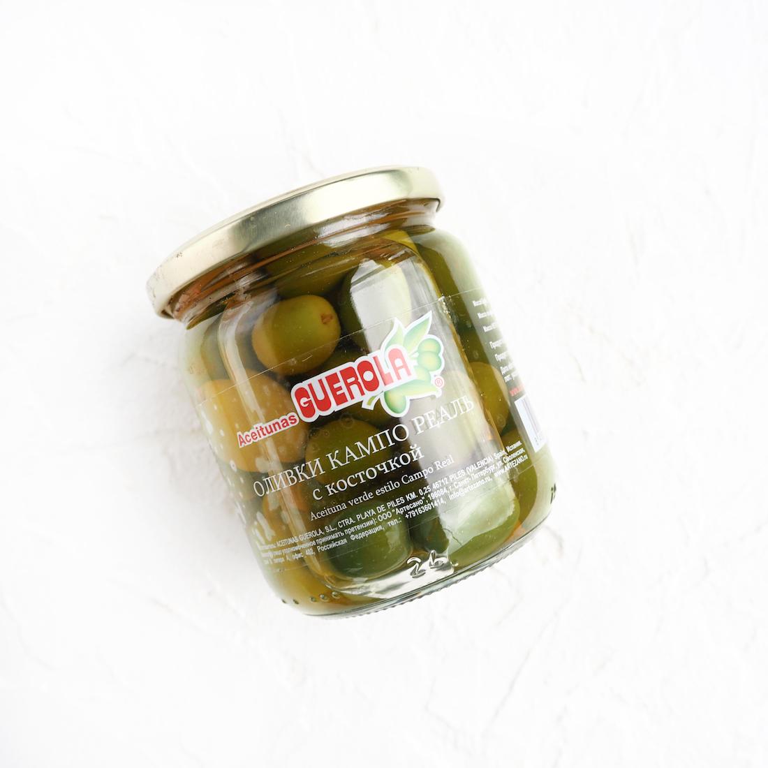 Изумрудные оливки Кампо-Реаль с косточкой (1 шт., 340 г)