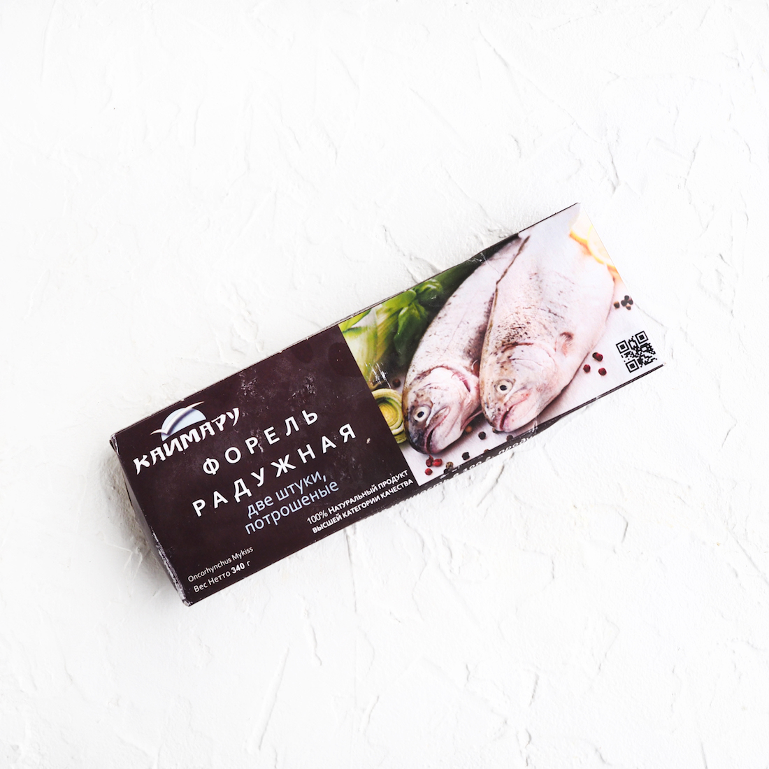 Замороженная радужная форель (2 шт., 340 г)