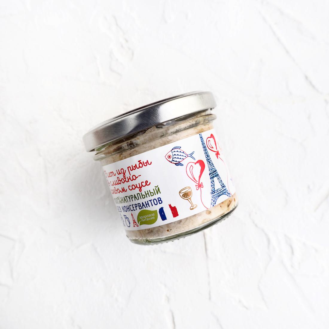 Риет из клария в сливочно-соевом соусе (1 шт., 100 г)