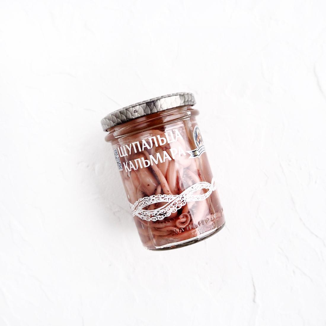 Щупальца кальмаров в стекле (200 г)