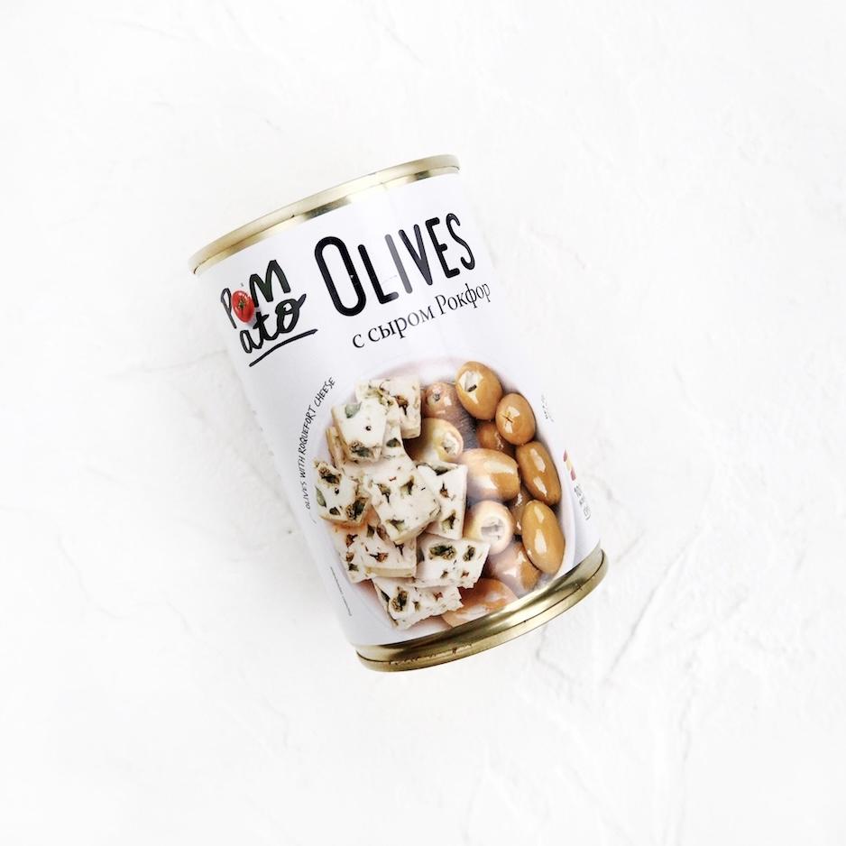 Оливки с сыром Рокфор (300 г)