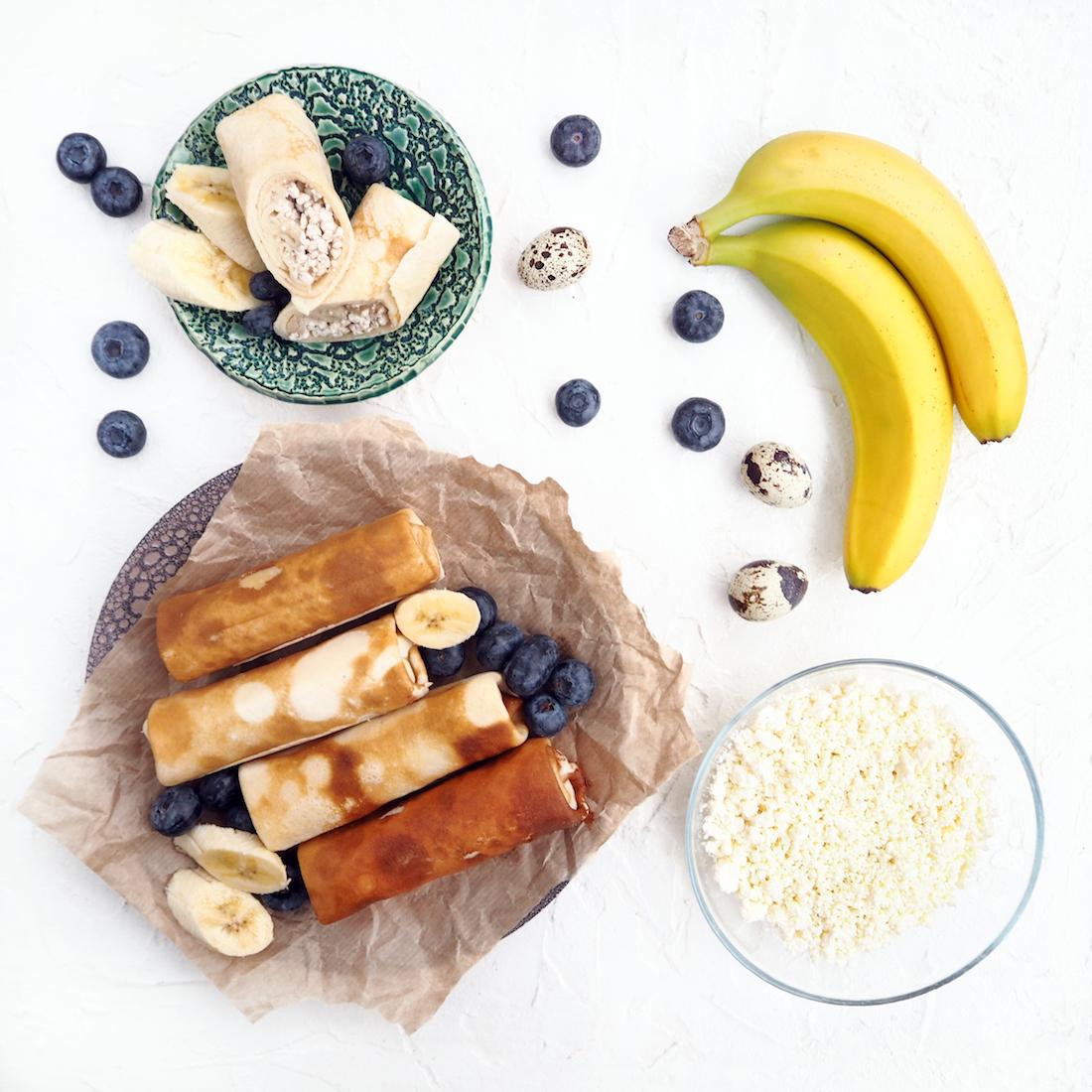 Замороженные блинчики с бананом и творогом (5 шт., 450 г)
