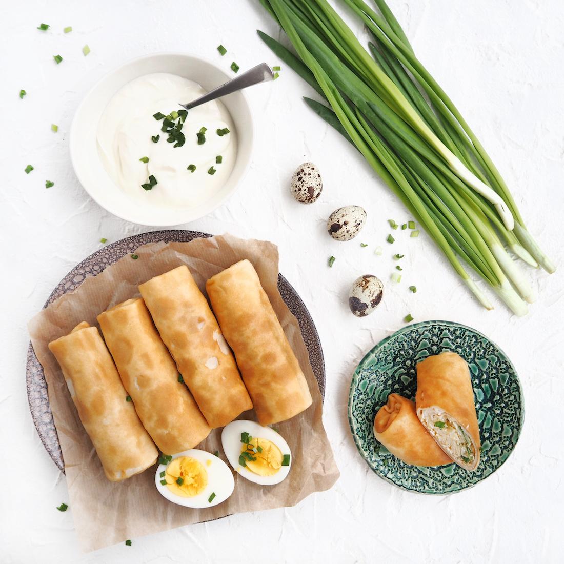 Замороженные блинчики с луком и яйцом (5 шт., 450 г)